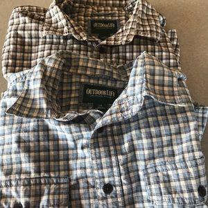 Outdoor Life Shirts Size Large Work Casual Shirt